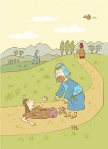 barmhartige samaritaan kinderbijbel